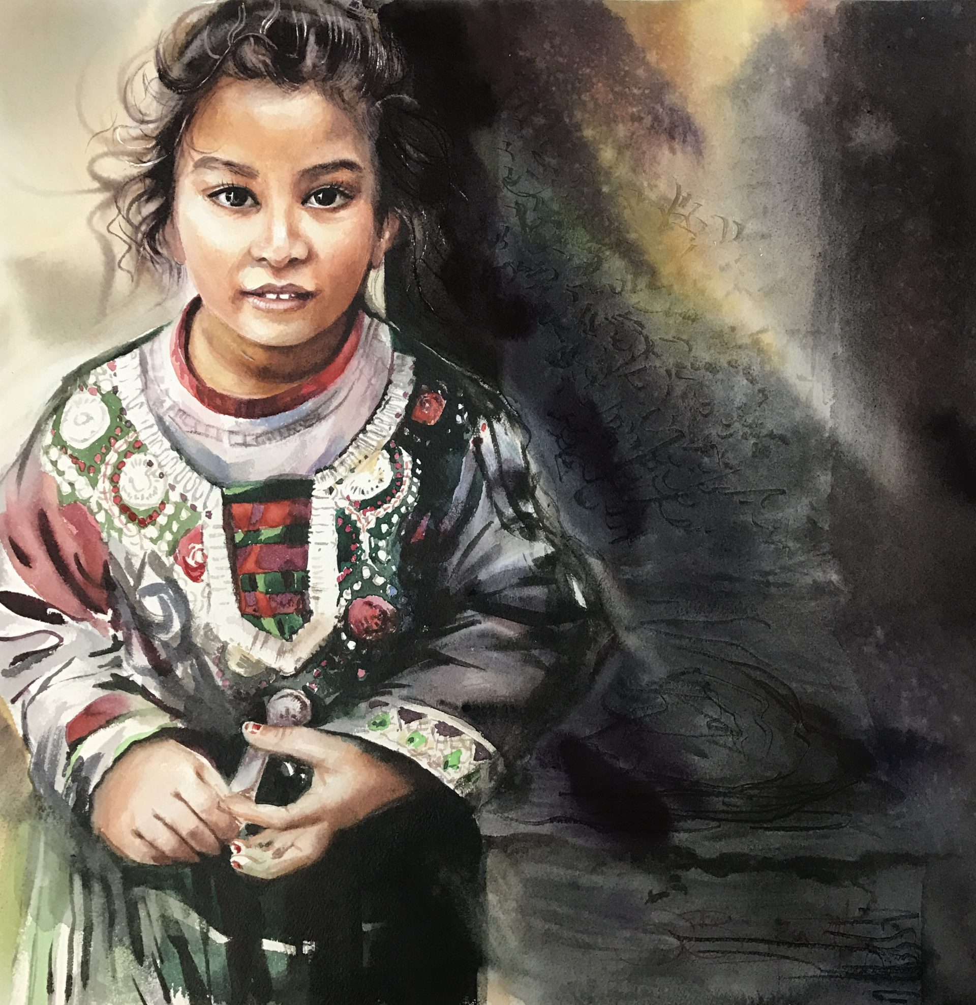 Nepalese Eyes, 40×40 cm,2016
