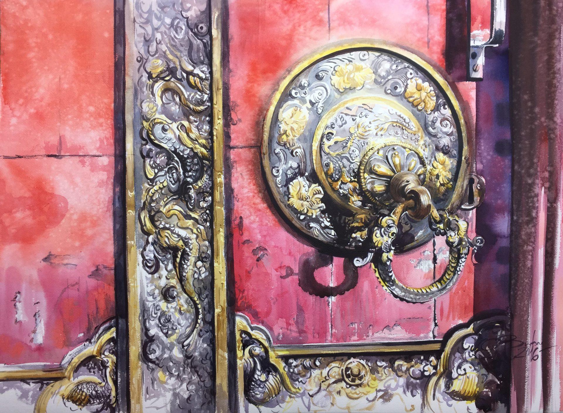The Piece of Beautuful Kathmandu,56x76cm,2016