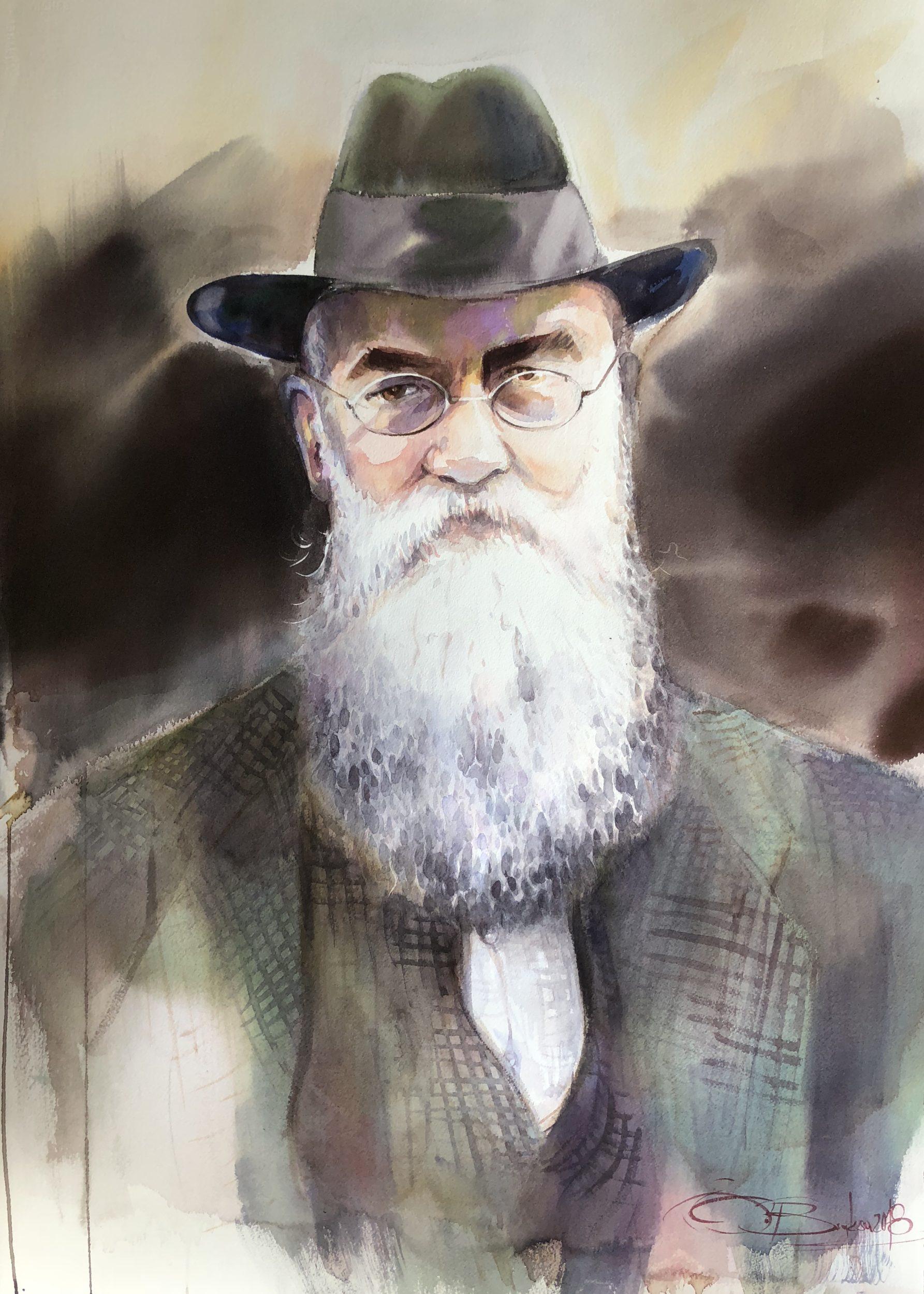 M.Hrushevsky, Watercolour, 56X76cm M.Hruševský