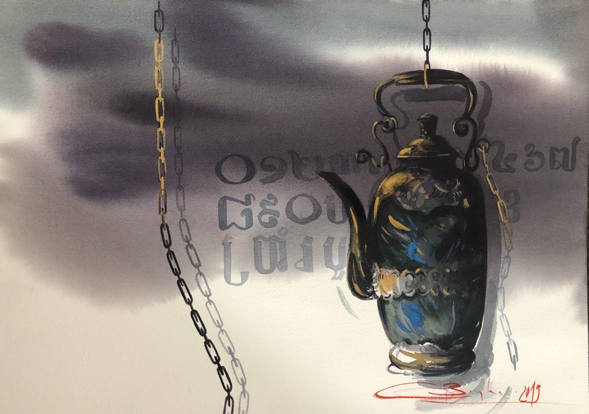 Remembrance of Cambodia,Watercolor,46x61cm