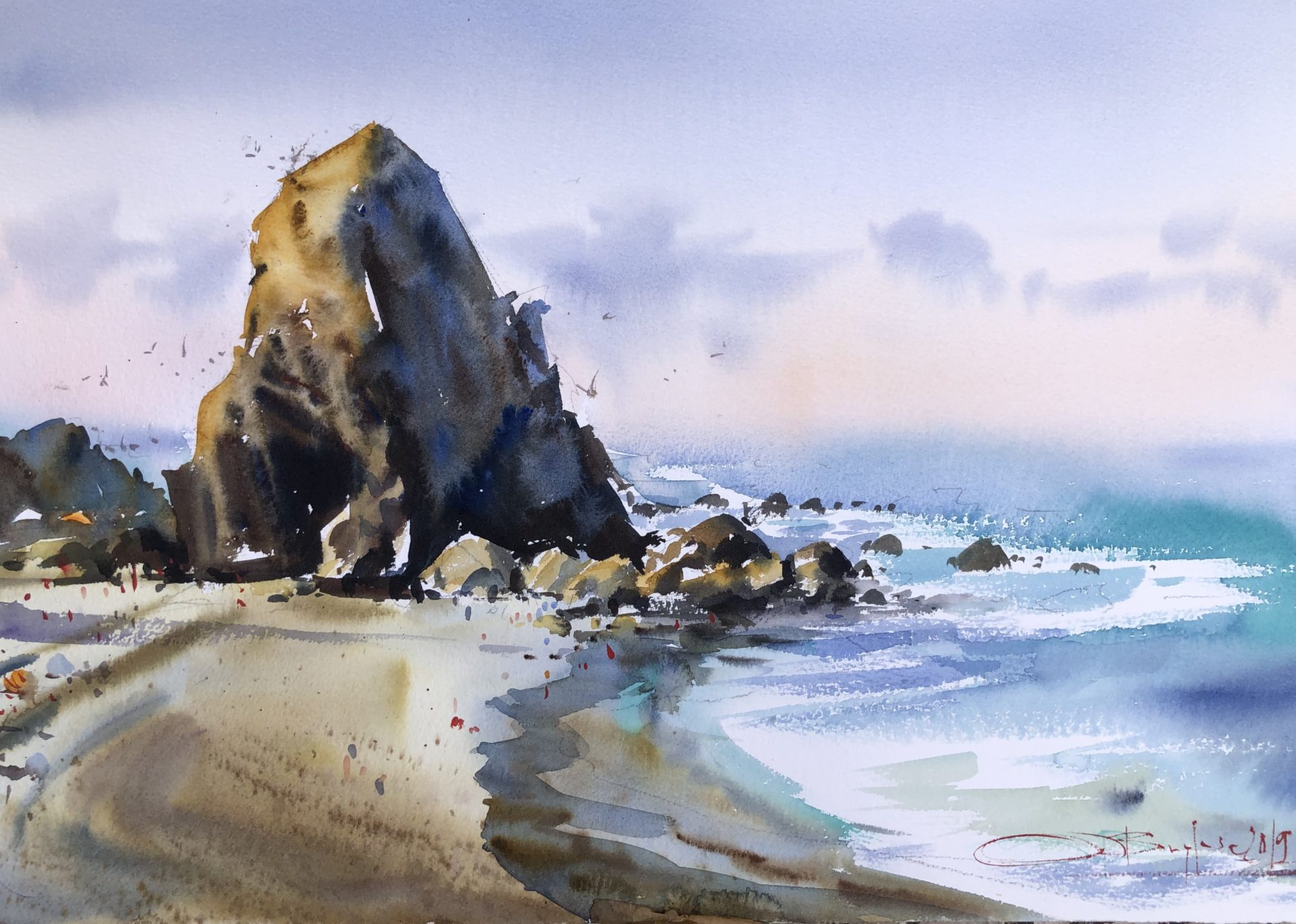 The Beauty of Portugal,Watercolour, 56x38cm,Krása Portugalska