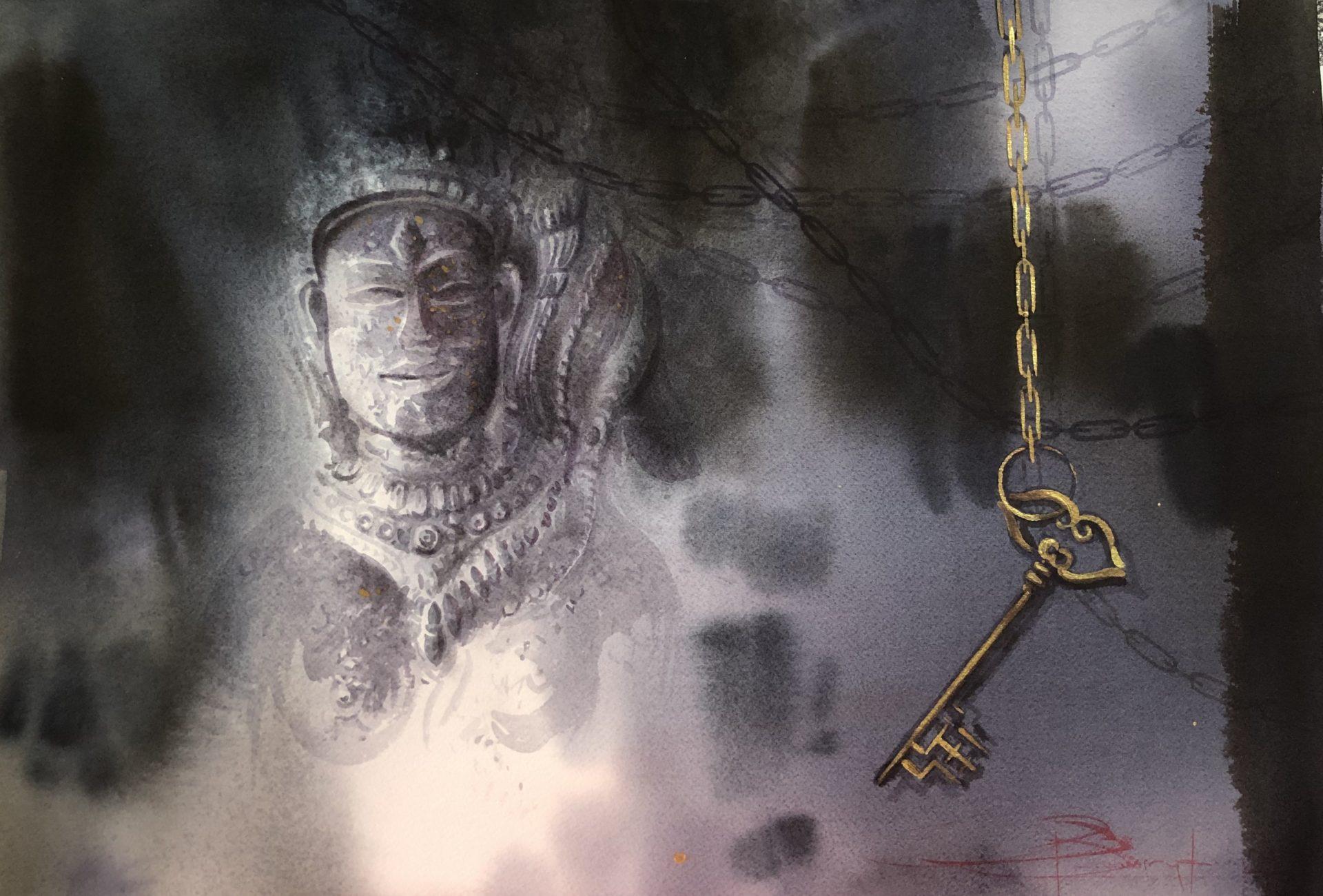 The Key From the Past, Angkor, Cambodia,Klíč z minulosti, Ankor, Kambodža